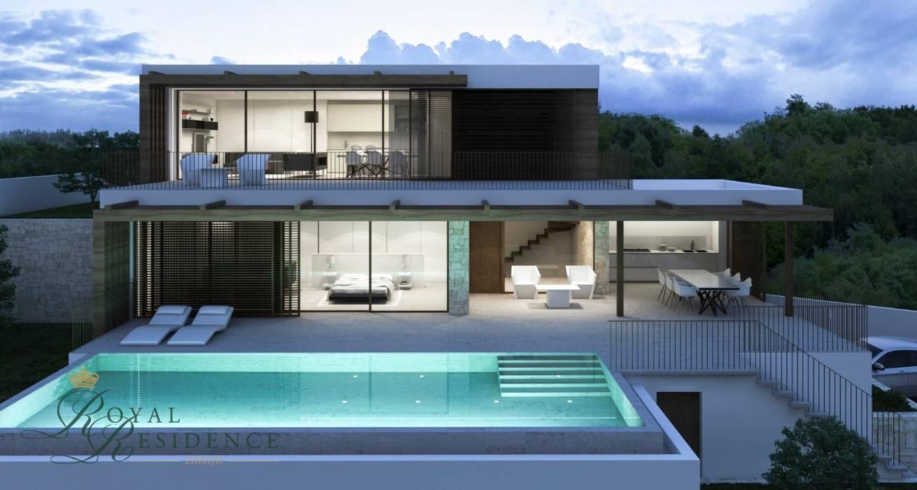 Villa under construction in Benissa Costa  with sea views