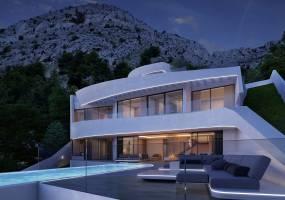 Off plan project innovating sea view villa in Altea