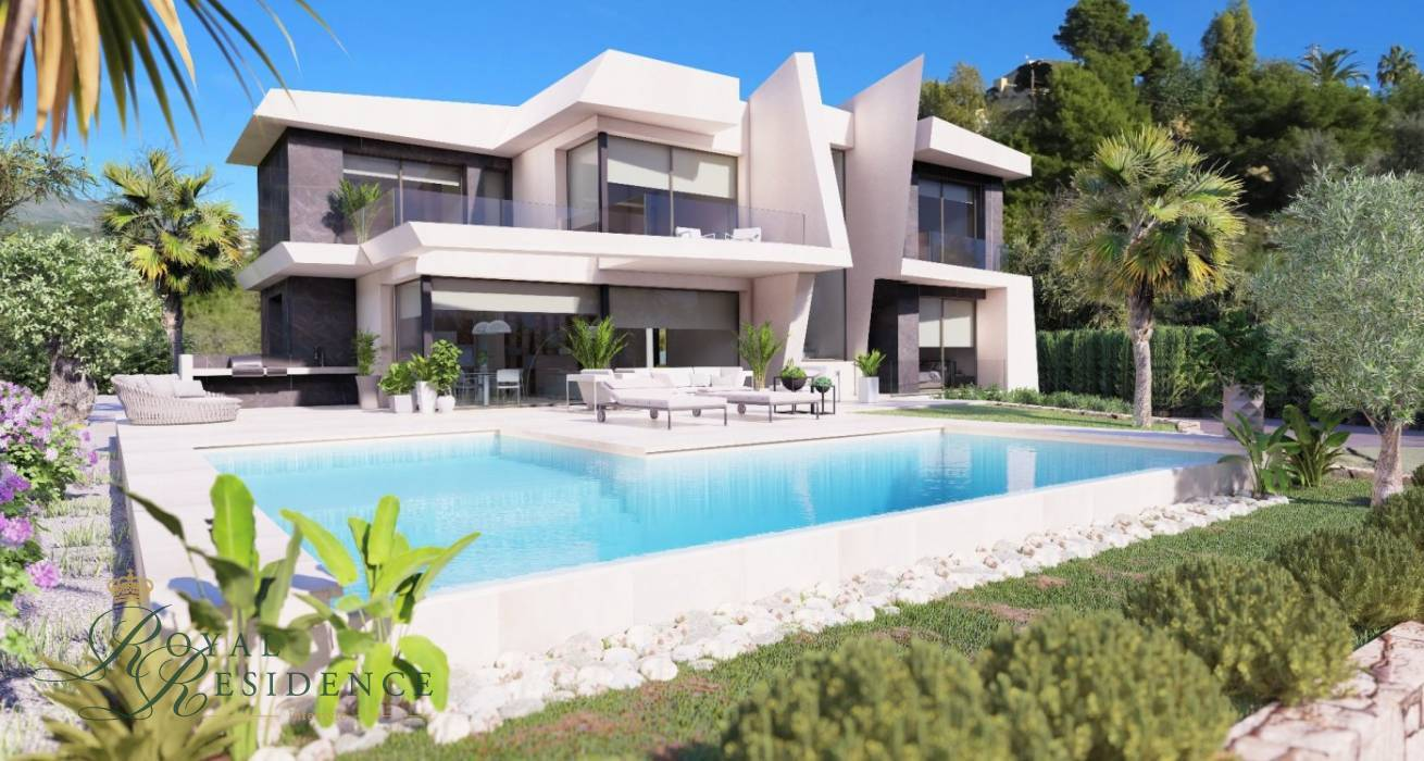 Off plan project designer villa with panoramic sea view in Calpe