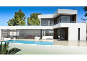 New build villa with valley views in Moraira