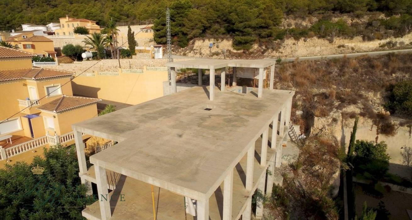 Villa under construction in Calpe