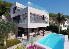 Villa under construction in Calpe